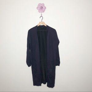 ASOS Navy / Black Long Open Front Cardigan